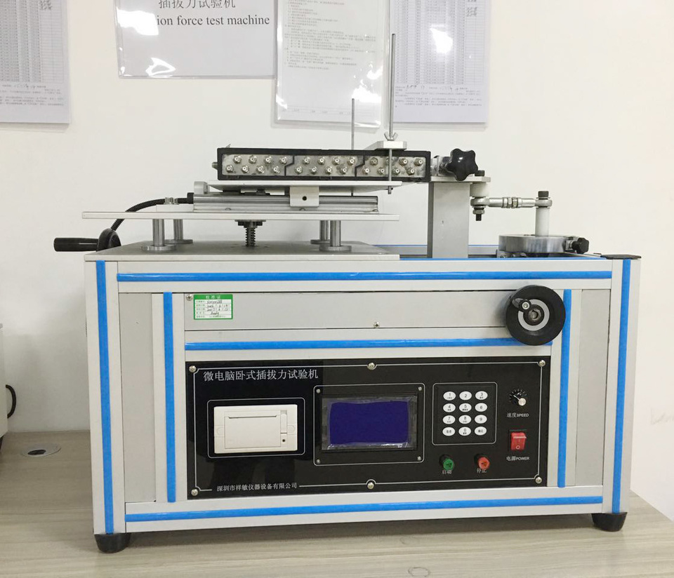 Insertion force test machine